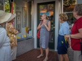 Donna Marder leads art walk